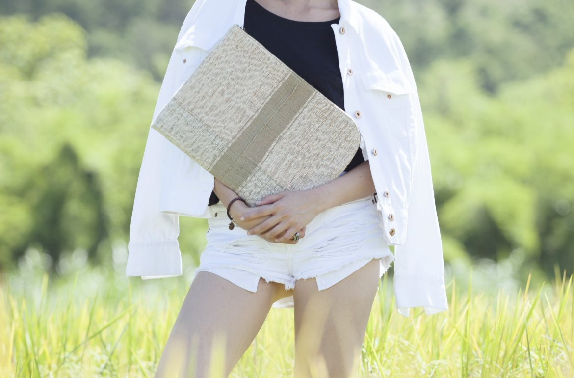 Rice Cycle Collection - Green Clutch Bag